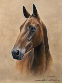 realistas-pinturas-caballos-pastel-oleo