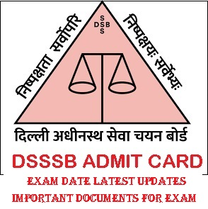 DSSSB Stenographer Admit Card 2021