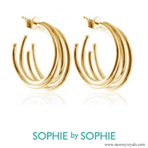 Crown Princess Victoria wore Sophie by Sophie gold earrings