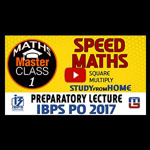 Master Class | Speed Maths | Preparation Class 1 | IBPS PO 2017