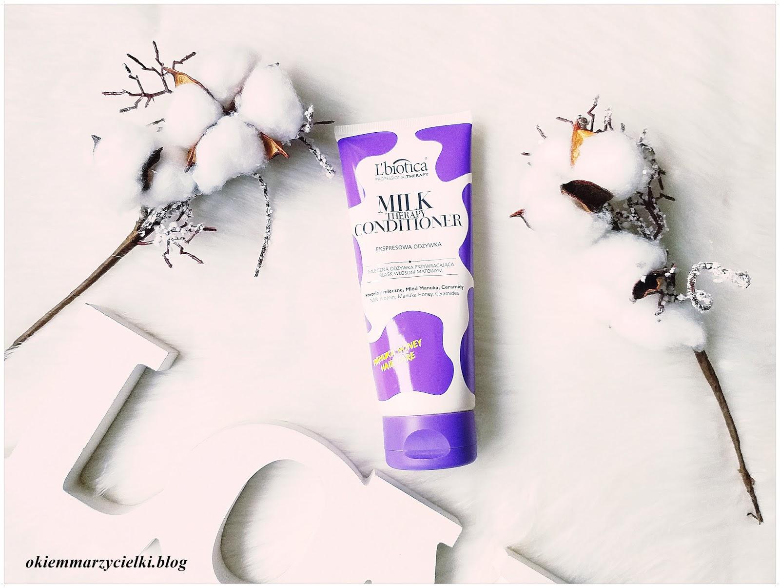 Mleczna ekspresowa odżywka przywracająca blask włosom matowym, L'biotica Professional Therapy-recenzja #117