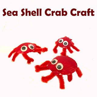 Sea Shell Crab Craft