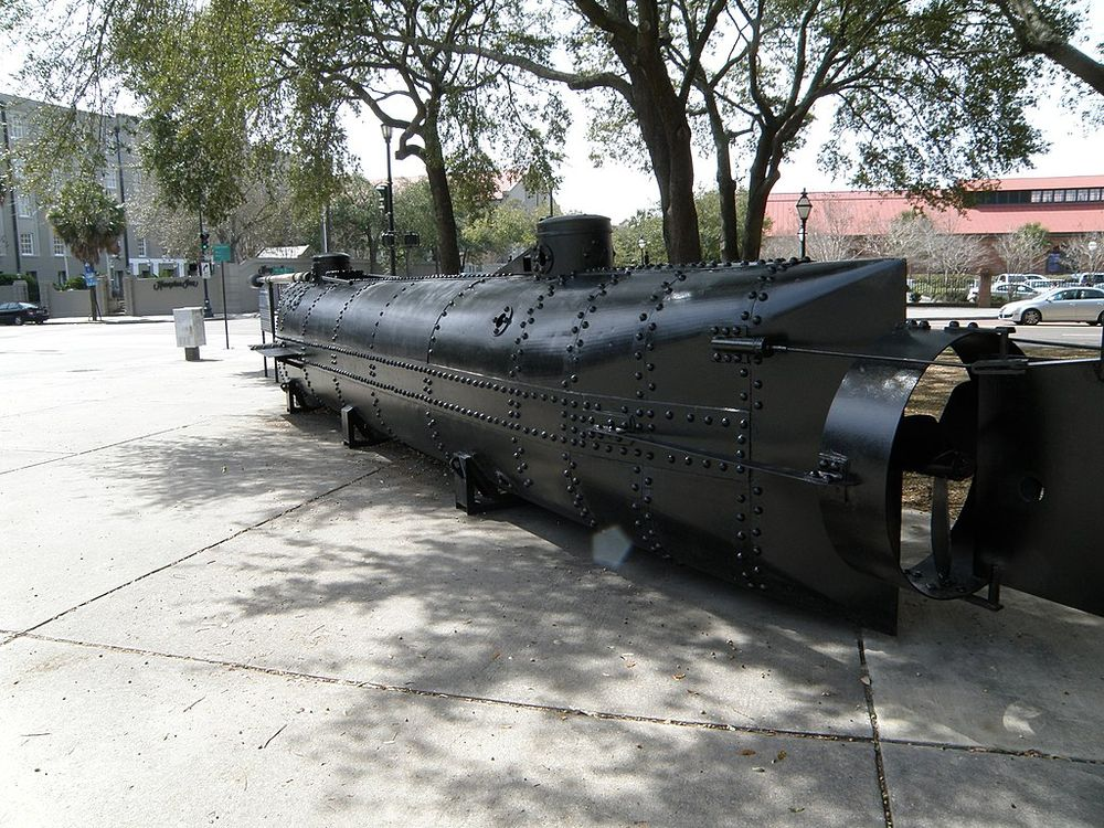 life size model of the CSS Hunley