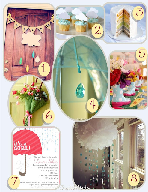 3 Wittle Birds: Friday's Favorites: April Baby Shower Ideas