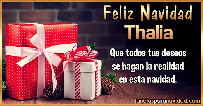 Feliz Navidad Thalia