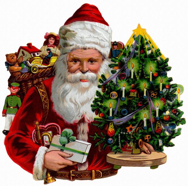 Vintage Santa Claus Cards And Holiday Wallpaper Long Goodbye