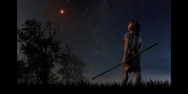 At a time when modern humans were beginning to leave Africa and the Neanderthals were living on our planet, Scholz´s star approached less than a light-year. / José A. Peñas/SINC