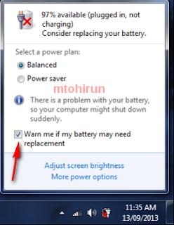 Cara Mengatasi Consider Raplacing your Battery