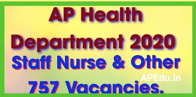 AP Health Department 2020 Staff Nurse & Other 757 Vacancies...