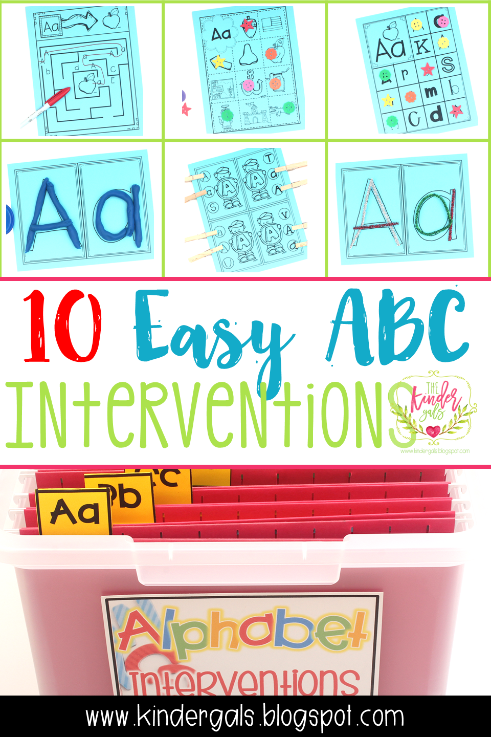 KinderGals: 10 Easy Alphabet Intervention Activities and How To ...