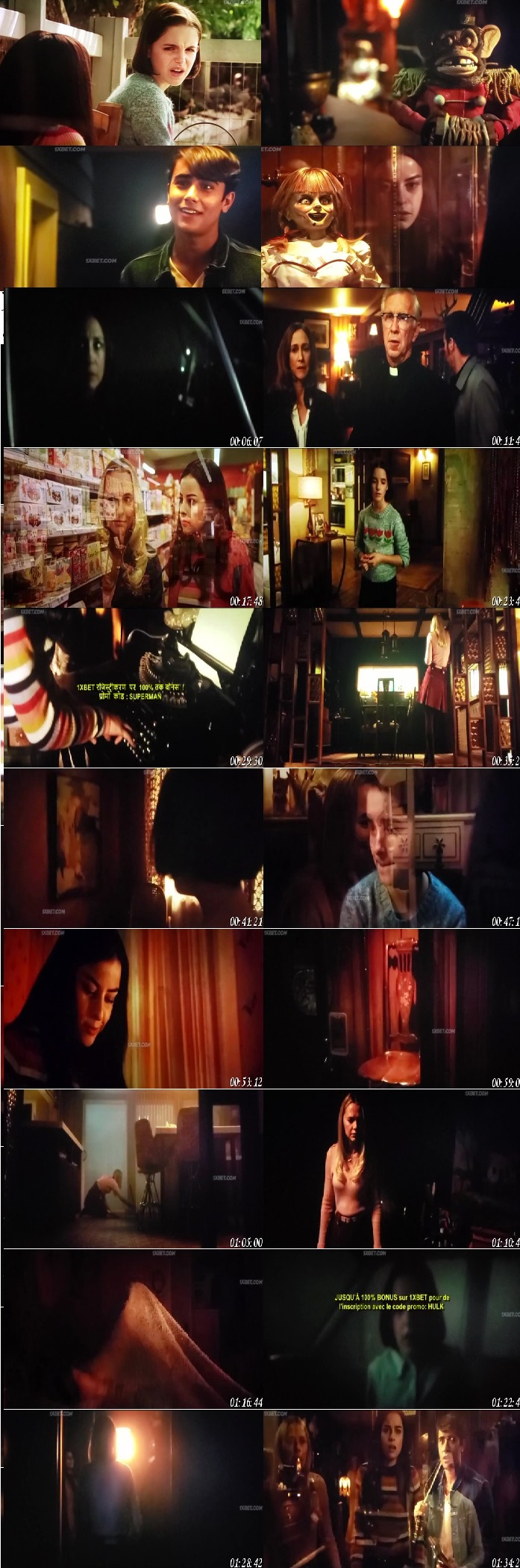 Screen Shot Of Annabelle Comes Home 2019 300MB Full Movie Hindi Dubbed Free Download 480P HDCam | DVDScr Small Size PC Movie
