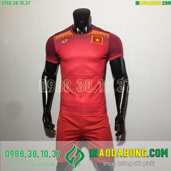 Áo bóng đá đội tuyển Việt Nam training màu đỏ