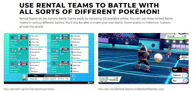 Pokémon Sword Shield Rental Teams battle stadium official website