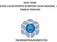 Soal dan Pembahasan Soal OSP Komputer/Informatika 2018