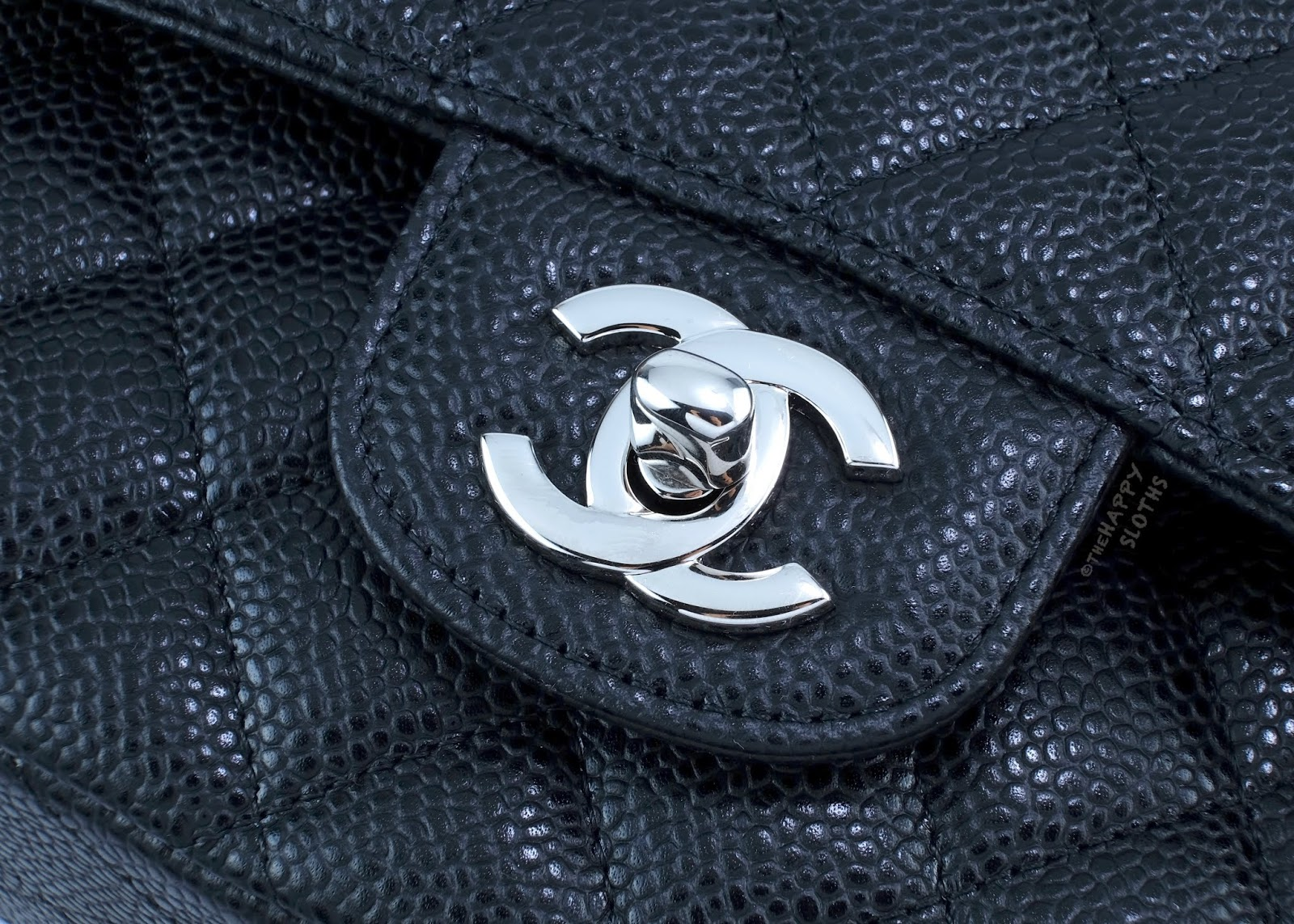 Chanel | Medium Classic Flap Handbag in Black Caviar Leather with Silver Hardware | CC Clasp: Review