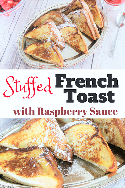 Make your own delicious Cream Cheese Stuffed French Toast with Raspberry Sauce with just a few ingredients and fresh produce from the market.