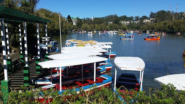 Rental boats in Burnham Park Baguio City