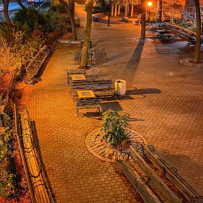 Empty park at night