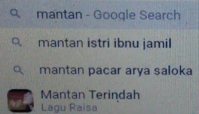 pencarian google kata kunci mantan