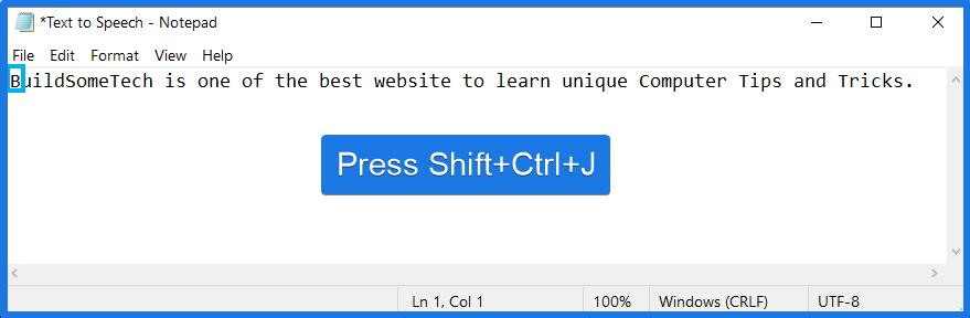 PressShift + Ctrl + JShortcut Keys