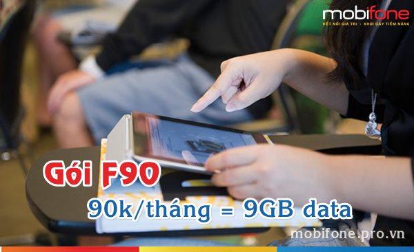 Đăng ký gói 3G F90 Mobifone nhận ưu đãi 9GB data/tháng