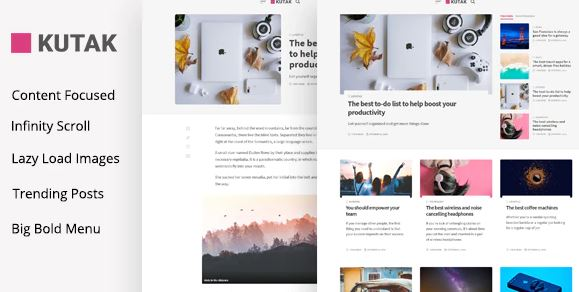 Kutak - Tema mínimo para WordPress de blog