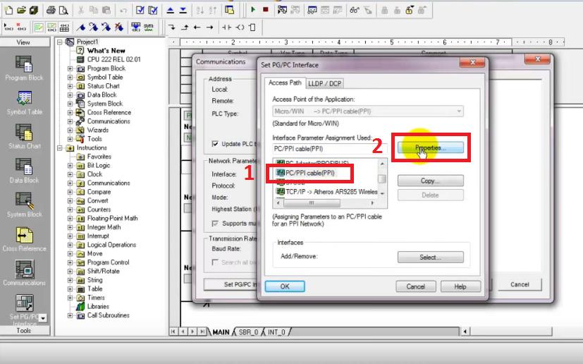 Hướng dẫn kết nối máy tính với PLC S7-200 sử dụng cáp USB PC/PPI