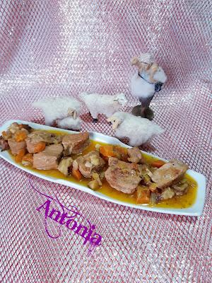 ◆*;::;*◆ Estofado Serrano De Carne Con Castañas ◆*;::;*◆