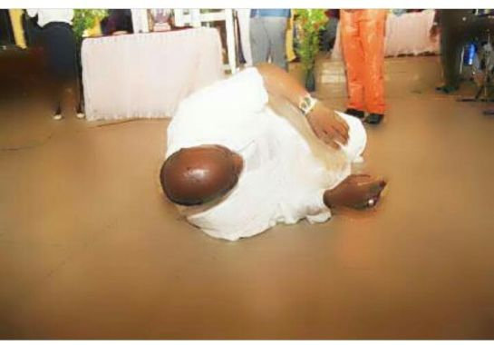Dino Melaye rolls on the floor during Thanksgiving Service after he escaped assassination, shares more photos from the attack