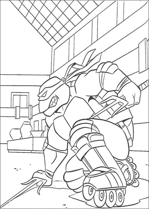 Free Ninja Turtles Coloring Pages Interesting Pages To Color