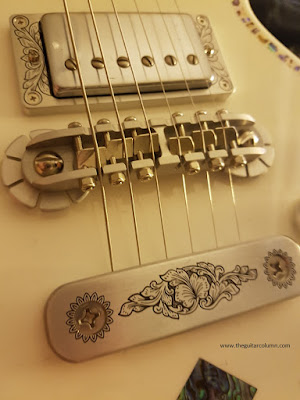 Zemaitis A24SU White Pearl Diamond bridge and tailpiece