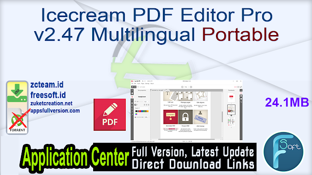 Icecream PDF Editor Pro v2.47 Multilingual Portable_ ZcTeam.id