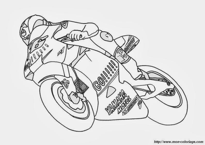 Moto Da Colorare Disegnidacolorare It