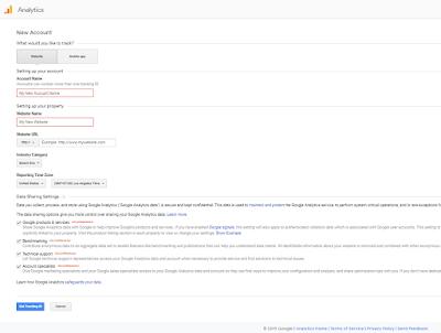 menu registrasi google analytics