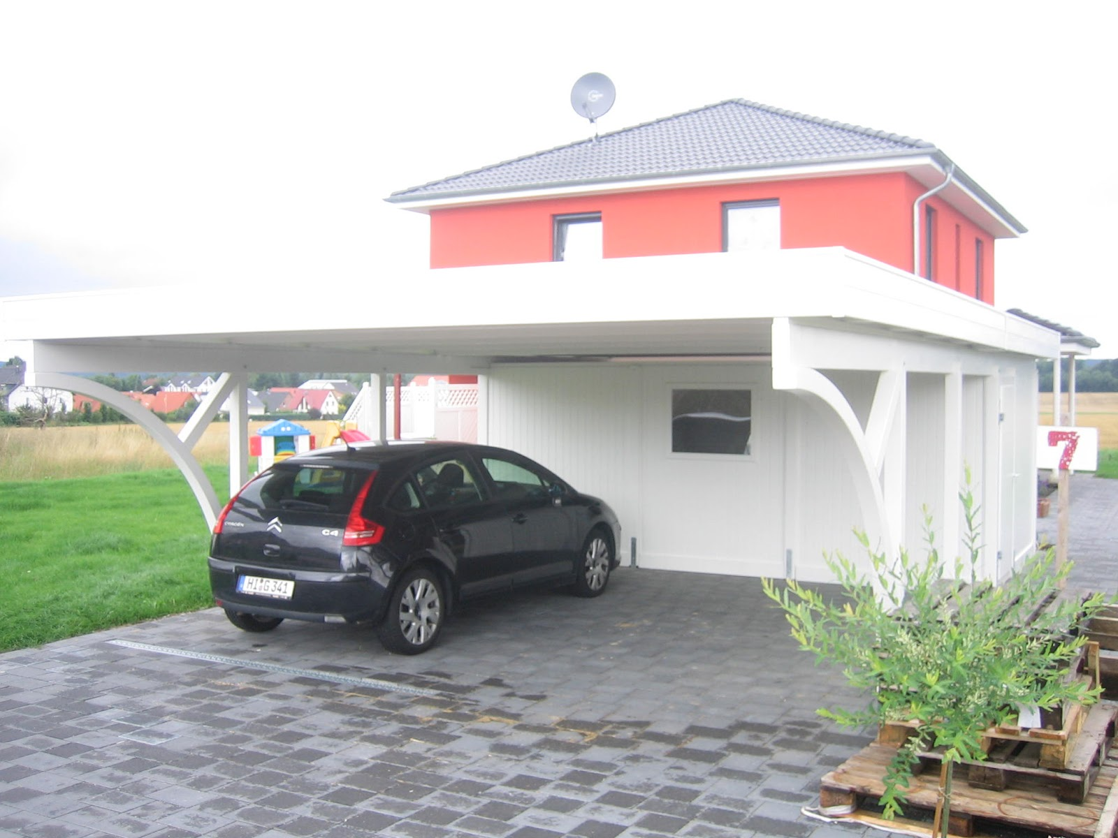 hollstamm montage das carport die alternative zur garage. Black Bedroom Furniture Sets. Home Design Ideas