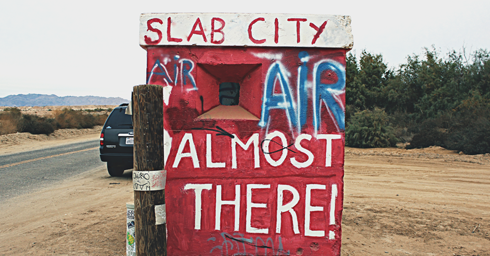 Slab City East Jesus Salton Sea California