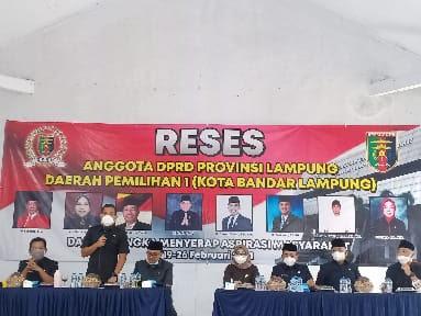 Serap Aspirasi, Tujuh Anggota DPRD Lampung Gelar Reses di Kampung Baru
