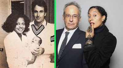 Robert Ellis Silberstein with his ex-wife then and now