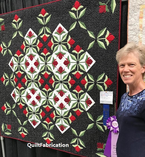 Mediterranean Rose by QuiltFabrication