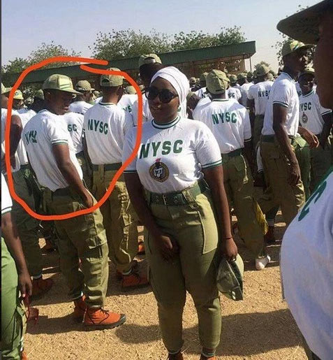 Between curvey female NYSC member and a male colleague