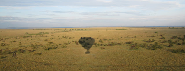 Hot air balloon ride in Africa