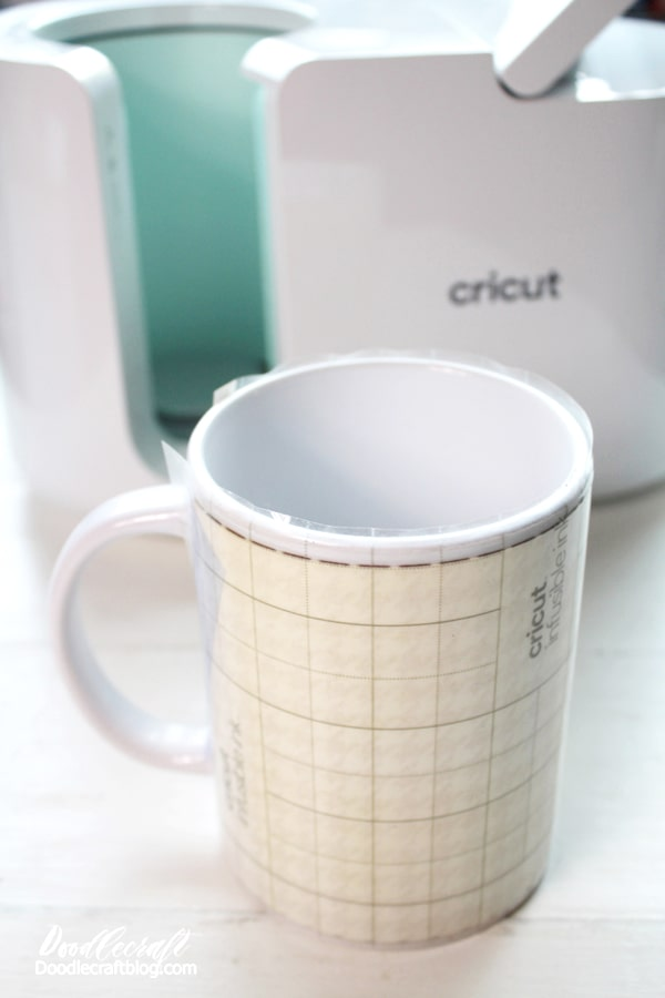 Let the mug cool down completely, then remove the heat resistant tape and Infusible Ink Transfer and boom, it's done!