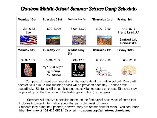 CMS Summer Science Camp Set to Begin May 31st