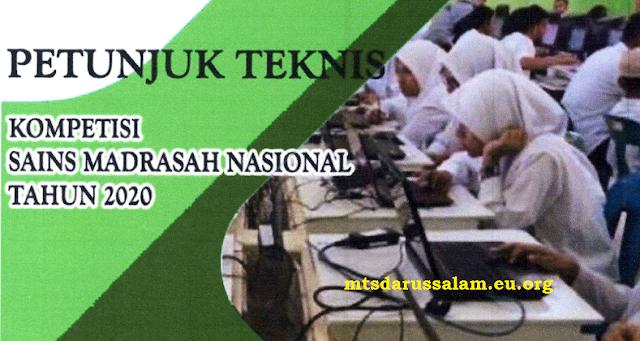 Juknis KSM (Kompetisi Sains Madrasah) Tahun 2020