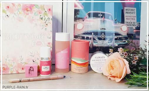 Blog PurpleRain Unboxing - BiotyfullBox Juin «La Rosée»
