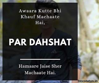Awaara-Kutte-Bhi-Khauf-Machaate-Hai - Attitude-Shayari