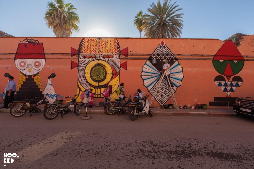 Marrakech Street Art in Morocco by Street Artist Giacomo Bufarini aka RUN