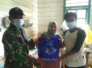 Sembako Zidam sampai ke Dusun Dua Kecamatan Sekayam Kabupaten Sanggau