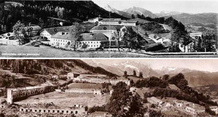 Panorama by Hoffmann of the Obersalzberg in 1941