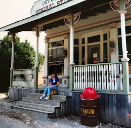 Piper in front of the General Store